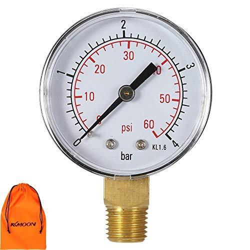 KKmoon 50mm 0~ 15 psi/0~ 1 bar NPT 1/4in piscina