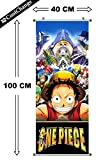 CoolChange Kakemono/Poster Arrotolabile della Serie One Piece, Motivo: I Pirati Cappello di Paglia