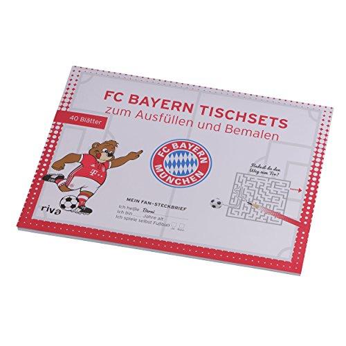 Preisvergleich Produktbild Ausmal Tischset + gratis Aufkleber FC Bayern MÜNCHEN Munich - Ausmalbuch, Ausmal-Tischsets