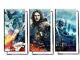 Game Of Thrones Jon Snow - Dreiteiler (120x80 cm) - Bilder & Kunstdrucke fertig auf Leinwand aufgespannt und in erstklassiger Druckqualität