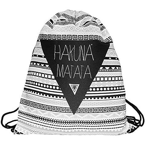 Hakuna Matata–Cordón Bolsa Gym Sac bolsa Gymbag mochila gimnasio desgaste escuela Stringbag