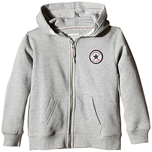 Converse Chuck Patch Core Zip - Sweat-shirt à capuche - Garçon Grey