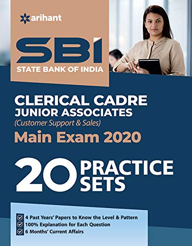 SBI Clerk Junior Asscociates 20 Practice Sets Mains Exam 2020