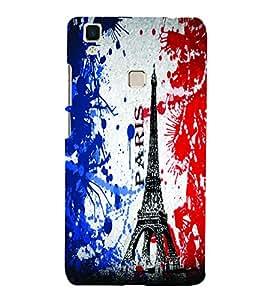 PrintVisa Travel Paris Eifel 3D Hard Polycarbonate Designer Back Case Cover for VivoV3