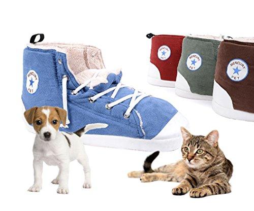 Cuccia per GATTI CANI di piccola taglia Scarpa morbida All Star Sneakers (Grigio)
