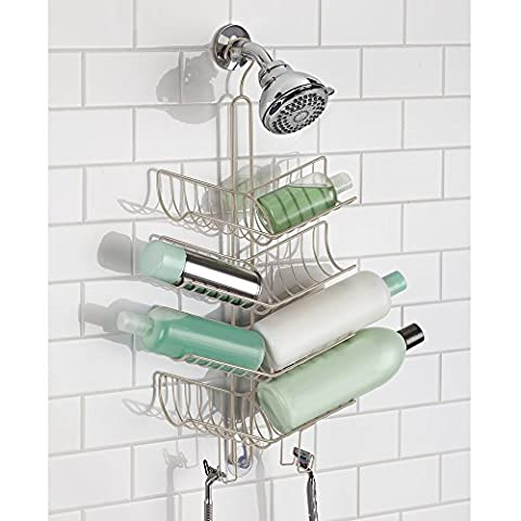 mDesign Shower Caddy with Hooks, Storage for