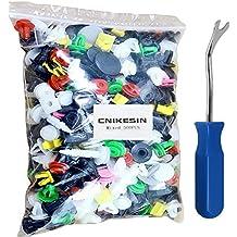 500 x Clips Remaches Plásticos Nylon para Coche Universales Tipo de Empuje para Guardabarros de Coche
