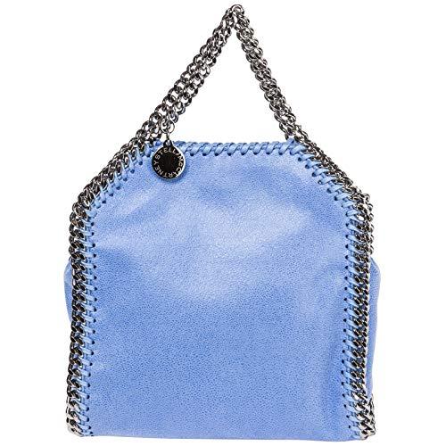 Stella McCartney borsa a mano falabella tiny donna azzurro