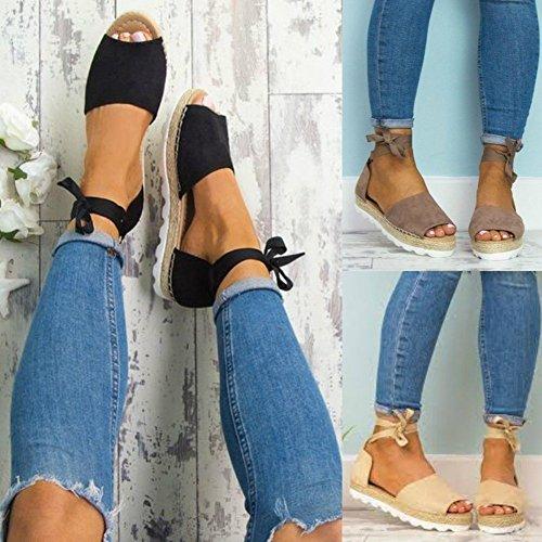 Minetom-Sandalias-Mujeres-Bohemia-Verano-Planos-Moda-Casual-Elegante-Peep-Toe-Shoes-Zapatos-De-Playa-Color-Caramelo-Sandals