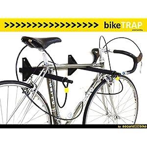 Antirrobo bicicleta: Cable 2,5m x 8mm de acero de doble lazo para soporte antirrobo bikeTRAP