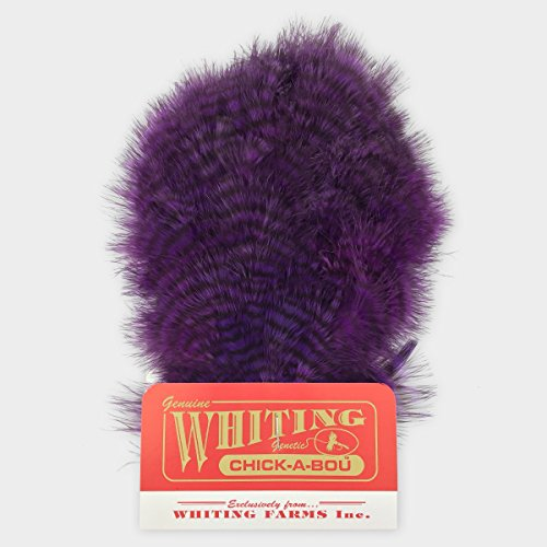 Whiting Farms chickabou Patch Federn, White Dyed Red (Red Boa Feather)