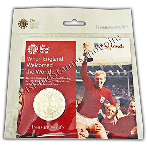1966FIFA World Cup England 2016Alderney £5Unzirkulierte Münze