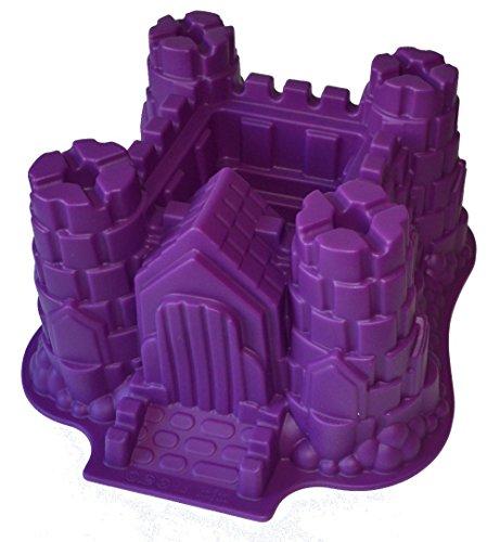 Silikon Backform Gross Burg Schloss Violet Kuchenform