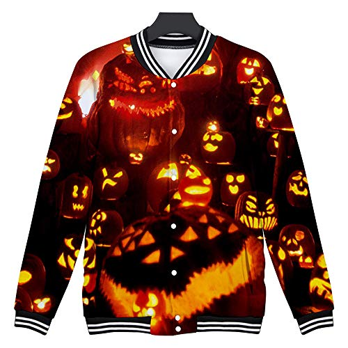 SSUPLYMY Mens Casual Sweatshirt Scary Halloween Liebhaber 3D Blumenmuster Party Langarm NOhoodie Top Bluse Liebhaber Party Langarm NOhoodie Top Bluse Langärmeliges Halloween Hemd (Super Scary Kostüm Für Halloween)