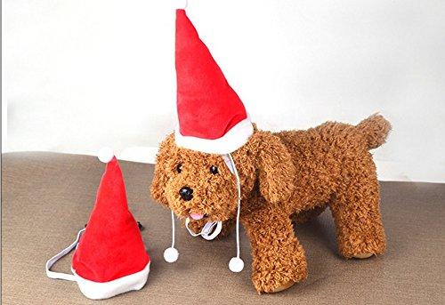 2pcs Haustier Kleidung Weihnachtszusatz Katze Hut Hundehut Katze Hund Weihnachten Fliege