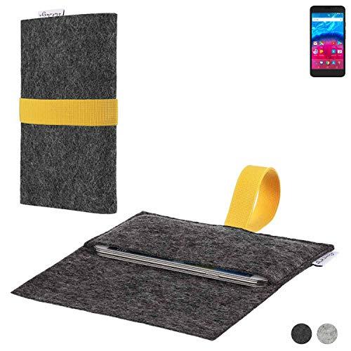 flat.design Handy Hülle Aveiro für Archos Core 55 4G passgenaue Filz Tasche Case Sleeve Made in Germany