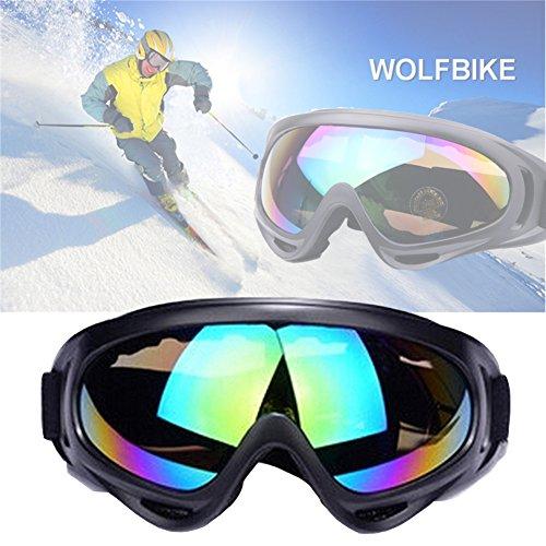 Motorrad Goggle Motocross skibrille Sportbrille Wind Staubschutz Fliegerbrille Snowboardbrille Schneebrille Skibrille Wintersport Brille Dirtbike Off-Road Schutzbrille Radsportbrille