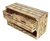 Kontorei® geflammte/braune Kiste mit Schublade 75cm x...