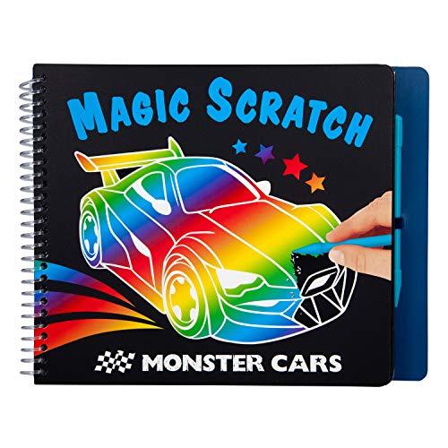 Depesche Libro para Colorear Magic Scratch Monster Cars, Aprox. 22,5 x 17,8 x 1,8 cm, Multicolor