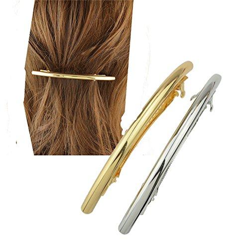 Cuhair® 2 Barrettes pour cheveux en Métal Style Punk - Accessoires pour femmes et jeunes filles