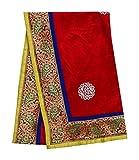 PEEGLI Indische Jahrgang Stickerei Stahl Blumenmuster Roten