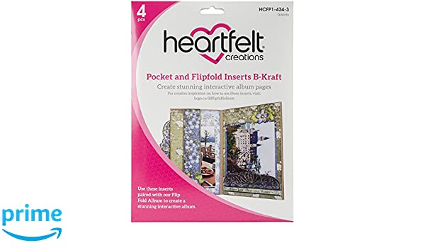 Mehrfarbig Heartfelt Creations 3D Flip Album Fach 17.78/x 23.11/X 3,3/cm