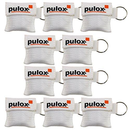 """10x PULOX ® """"RESPI-Key"""" Schlüsselanhänger Beatmungsmaske in weiss"""