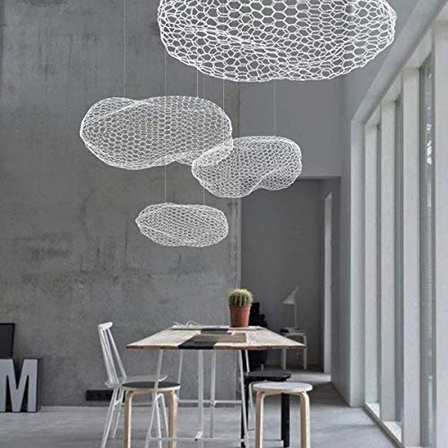 Bronze-kronleuchter 21-licht (HDDK Nordic Kreativität Fischnetz Stil Pendelleuchte, LED Kinderzimmer Cloud Kronleuchter für Wohnzimmer Esszimmer und Schlafzimmer (Color : Warm Light, Size : Small))