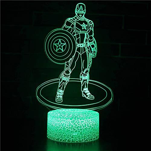214 Home-office (Home Office Dekoration Marvel Avengers Serie 3D Nachtlichter Bunte Touch Tischlampen Kreative Neuheit Geschenk Lichter)