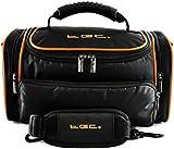 TGC ® Large Camera Case for Canon LEGRIA HF G25, G30 Plus Accessories (Black with Hot Orange Trims/Lining)