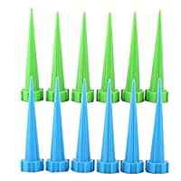 ‏‪UEB 12 Pcs Automatic Garden Watering Spike Water Control Drip Cone Plant Flower Waterer Bottle Irrigation‬‏