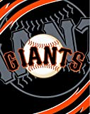 SF Giants MLB Royal Plush Super Soft Queen Size Blanket 79 x 95 Inches
