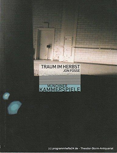 Kostüme Fosse (Programmheft Traum im Herbst von Jon Fosse Premiere 29. November 2001 Neues Haus Spielzeit 2001 /)