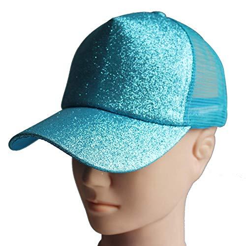ze mit männlichem und weiblichem Visier, Skorpion-Pferdeschwanz-Baseball-Mütze mit fluoreszierender Öffnung im Freien, Hip-Hop im Freien, himmelblau einstellbar ()