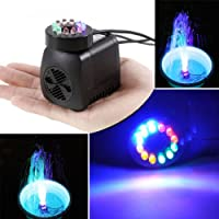 Bomba Sumergible con 12 Luz de LED Colorido ,GOCHANGE 220V,15W,800L/