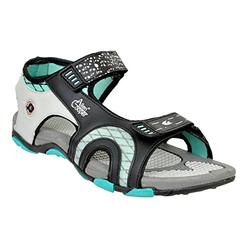 Allen Cooper ACFL-133 Grey Black Green Floaters For Men (7) image - Kerala Online Shopping