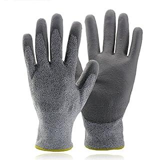 FOKN Gardening Gloves Thorn-proof Garden Breathable Wear-resistant Work Labor Protective Gloves,Grey-M