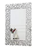 RICHTOP Espejo de pared - Rectangular Crystal Jewel Mosaic