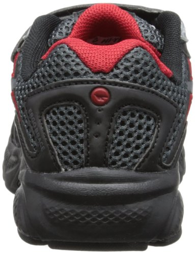 Hi-Tec  R156 Junior EZ, baskets mixte enfant Noir - Black/Charcoal/Red