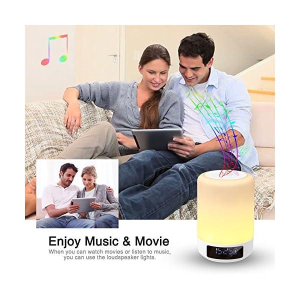 Lun De Portable Tf Libres CarteUsbBluetoothMains Lampe Parleur Bluetooth Enceinte HorlogeSupport Chevet Haut Gb Alarme Réveil Tactile trCshQBdx