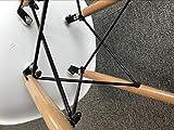 Comfortableplus Set von 4 Esszimmerstühlen Eiffel Retro Plastik Sitz und Holz Beine für Esszimmer Schlafzimmer Küche Weiß - 7