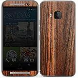 HTC One M9 Case Skin Sticker aus Vinyl-Folie Aufkleber Kirschbaum Holz Look