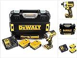 DeWalt DCF 887 P2 Visseuse à Chocs sans fil 18 V brushless avec Mandrin de 1/4' + Boîtier TStak + 2x Batteries 5 Ah + Chargeur DCB 115