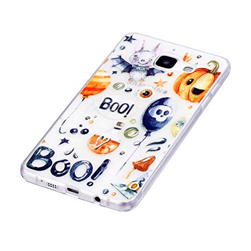 Galaxy A5 2016 Hülle, Samsung Galaxy A5 2016 Hülle, Anlike Gemalte Musterserie für Samsung Galaxy A5 2016 /SM-A510F (5,2 Zoll) Case - Halloween-Party