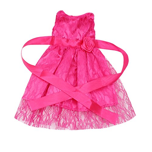 MagiDeal Süße Puppenkleidung Einteiliges Kleid Für 18 Zoll American Girl Puppen - 3