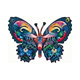 Oleg Gravrilou Graceful Peacocks Butterfly Shaped Jigsaw Puzzle 1000pc