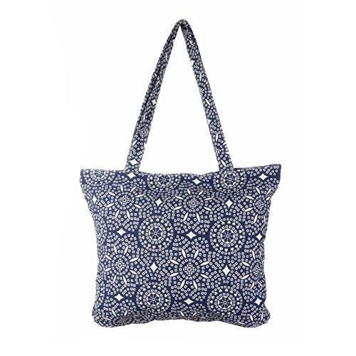 Borsa a tracolla tela donna borsa della chiusura lampo stile boemia borsa di grande capienza-très chic mailanda (caleidoscopio)