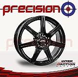 "Precision Set of 4 x 16"" SIRIUS Gloss Black Alloy Wheels for ṾW Polo 9A4 (02-16) Part No.V16655100E38ZT57SIR-28408"