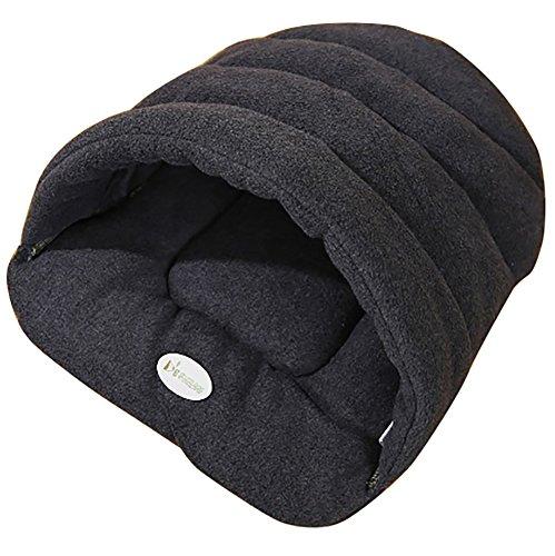 Leosi Schlafsack, Heimtierhöhle für Katzen, Welpen, halb verdeckt, winddicht, zum Hineinschlüpfen, kuschelig, weiche Matte