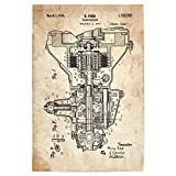 artboxONE Poster 90x60 cm Auto Getriebe Patent (Antik) von Künstler Artkuu